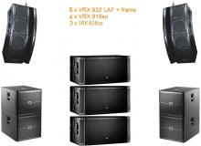 VRX set 4 15000W Powered